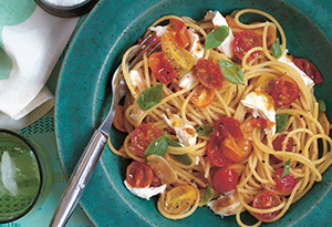 Spaghetti with Heirloom Cherry Tomatoes