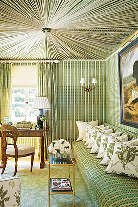 Wallpapered room