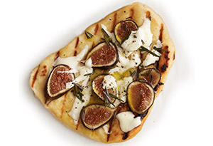 Figs, Rosemary and Parmesan Grilled Pizza