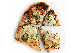 Jalapeno, Garlic and Oregano Grilled Pizza