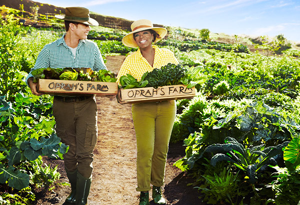 Oprah and Bob Greene at Oprah's Maui farm