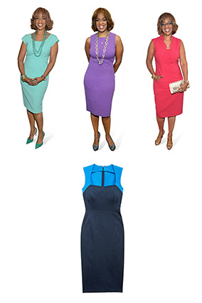 Gayle King's sheath dresses