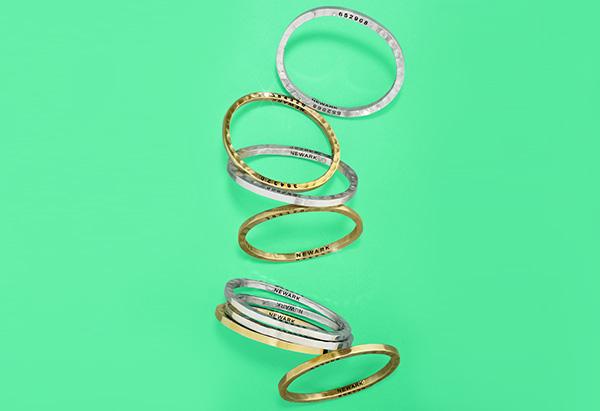 Gun metal bracelets