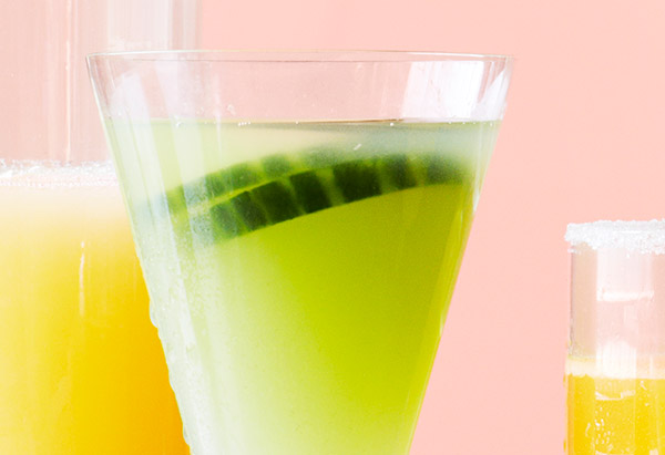 Jalapeno-Cucumber-Basil Martini