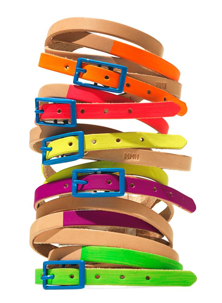 Quadruple-Wrap Leather Bracelets