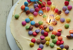 Angel M&M's Cake
