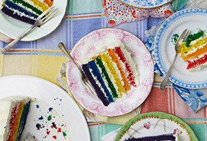 White Chocolate Rainbow Cake