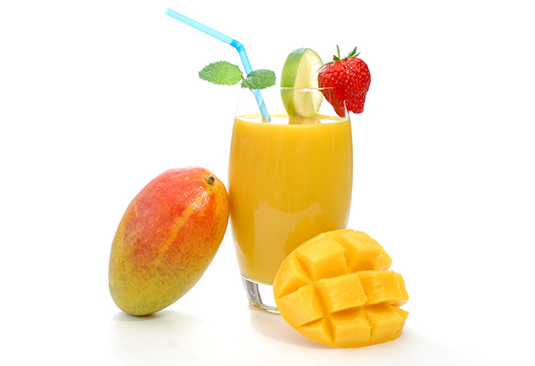 Mango Lime Soy Milk Smoothie