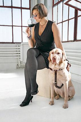Alex Elman and her dog General