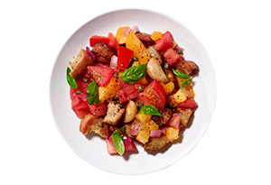 Warm Bread Salad with Tomatoes