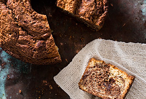 Sour Cream Coffee Cake with Walnut Streusel