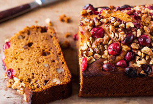 Pumpkin Cranberry Tea Cake