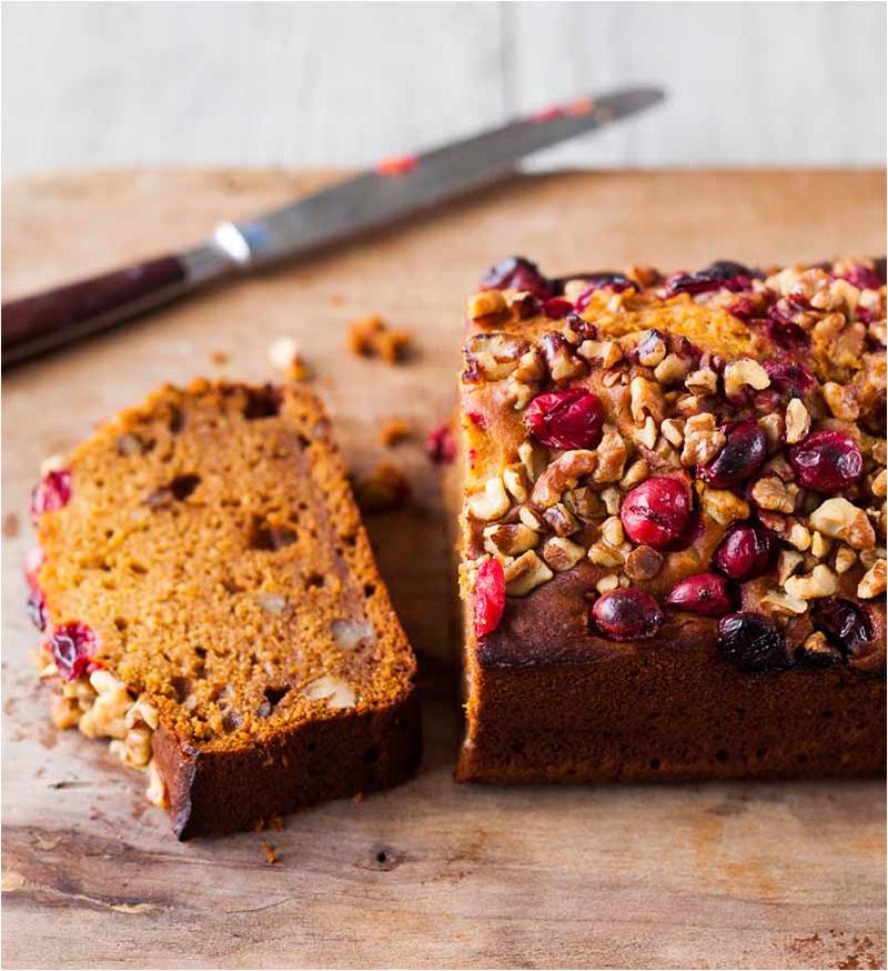 Pumpkin Cranberry Tea Cake Recipe