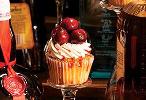 Cherries Jubilee Cupcake