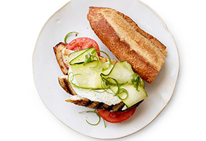 Lemony Chicken and Zucchini Sandwiches