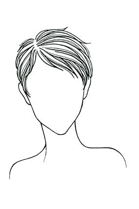 Straight Hair, Heart Face