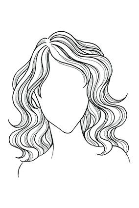 Wavy or Curly Hair, Heart Face