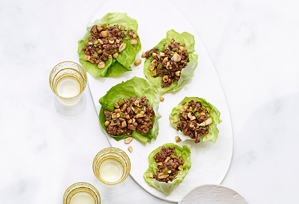 Gingery Beef Lettuce Wraps