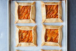 Apricot–Basil Cream Galettes