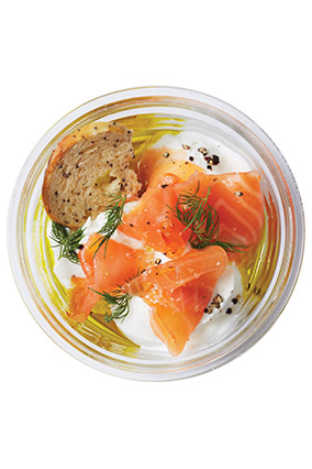 Yogurt and salmon