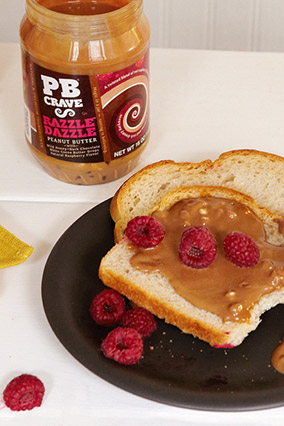 Peanut butter and raspberry