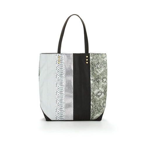 Rachel Roy Faux-Snakeskin Tote with Golden Studs