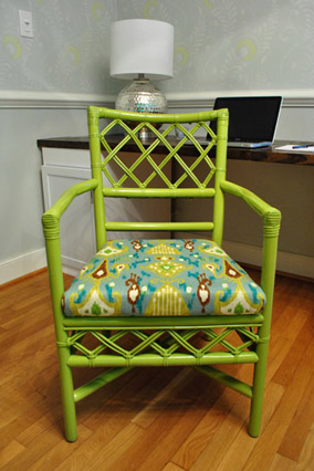 ikat-topped chair