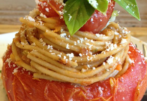 Spaghetti-Stuffed Tomatoes