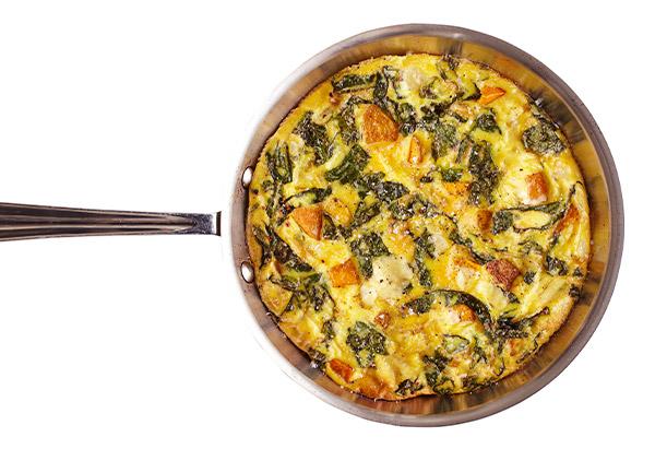 Fontina, Squash, and Kale Frittata