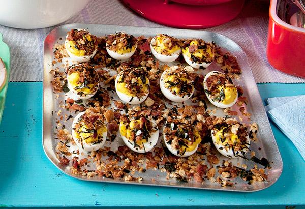 Steakhouse Deviled Eggs