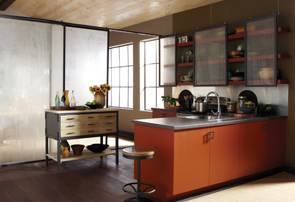Burnt orange, olive and taupe