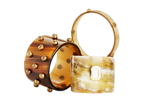 Faux-horn Bracelets