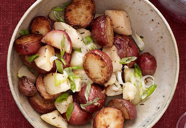 Pan-Roasted Rosemary Potatoes and Pears
