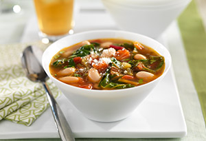 Stewed White Beans and Greens with Tomato and Roasted Garlic