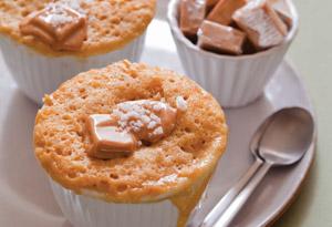 Caramel-Fleur de Sel Mug Cake