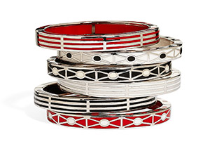 Striped and Dotted Bracelets
