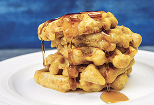 Chicken Stuffed Waffles