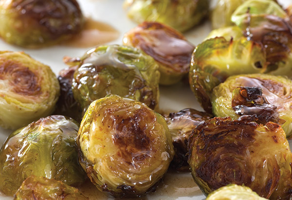 Browned Brussels with Maple Butter