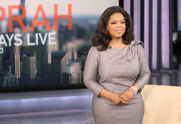 Oprah in Carolina Herrera