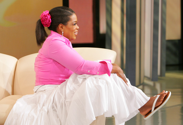 Oprah's flip-flops