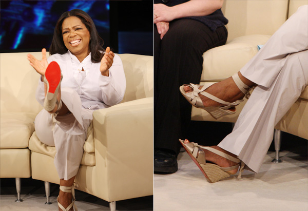 Oprah's Christian Louboutin espadrille sandal