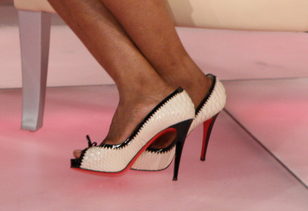 Oprah's black and white Louboutins