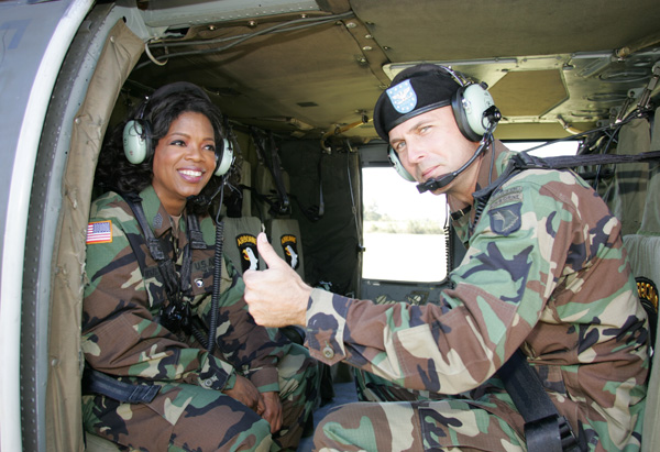 Oprah visits Fort Campbell