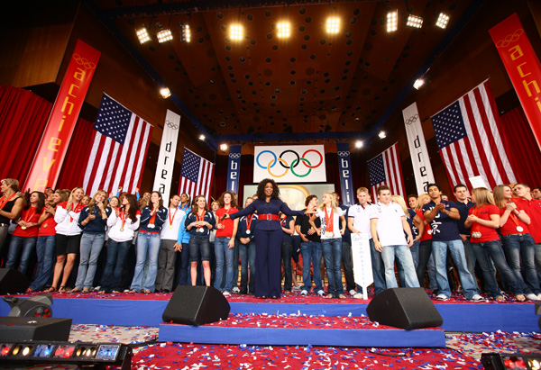 Oprah welcomes home Team USA