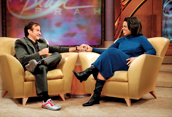Oprah Winfrey and Robin Williams