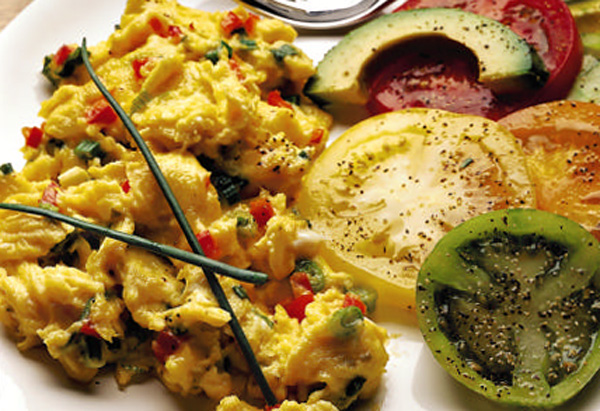 Oprah's Scrambled Eggs with Fresh Herbs and Cheese