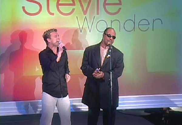 Jake and Stevie Wonder