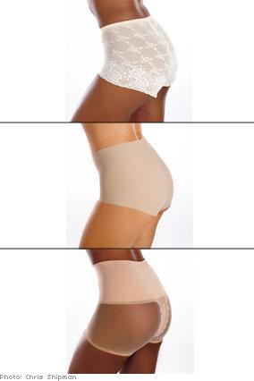 Shapewear creates smooth lines under skirts.