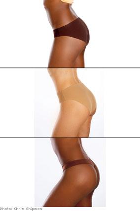 Skin-toned panties work best under white pants.