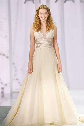 Amsale says this dress is perfect for a destination wedding.